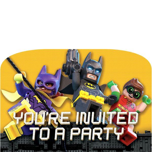 Lego Batman Movie Invitations 8 pack My Party Box