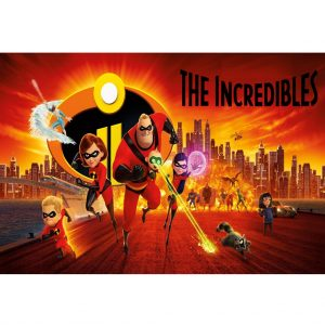 Incredibles 2 A4 Cake Image