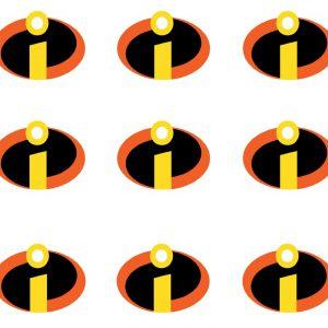 Incredibles 2 Cupcake Image