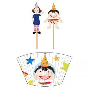 Play School Cupcake Cases & Picks
