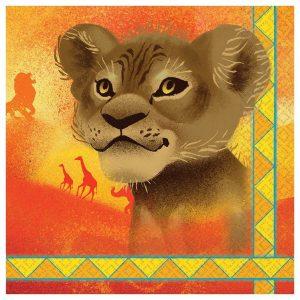 Lion King Beverage Napkins
