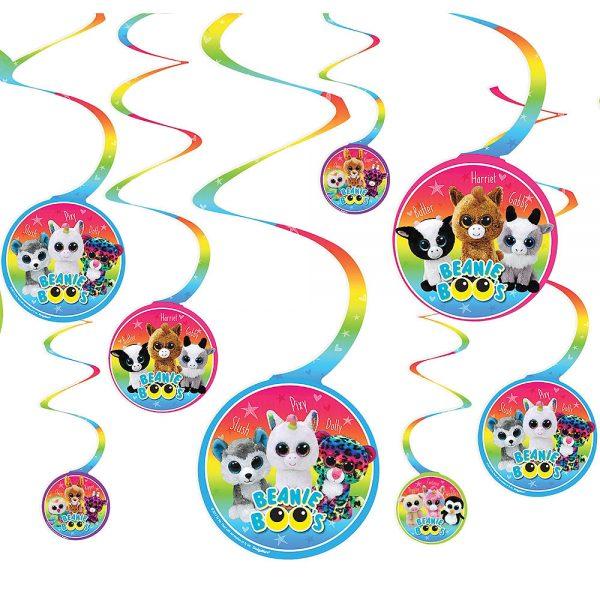 Beanie Boo's Hanging Swirl Decorations