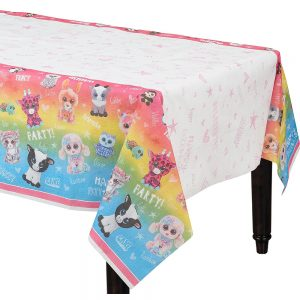 Beanie Boo's Plastic Table Cover