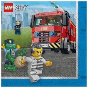 Lego City Beverage Napkins