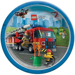Lego City Lunch Plates