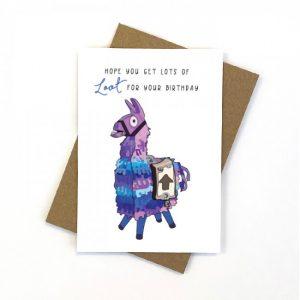 Fortnite Birthday Card